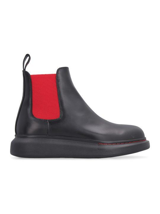 Alexander McQueen Leather Chelsea Boots