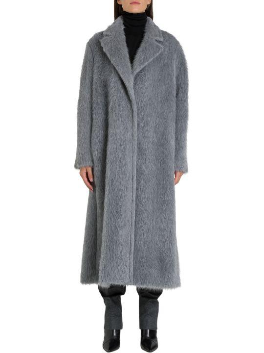 Alberta Ferretti Oversized Alpaca Blend Coat