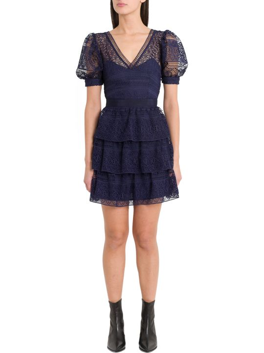 self-portrait Macramé Minidress
