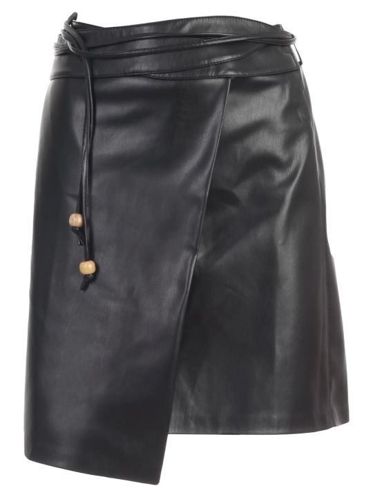 Nanushka Sekoya Skirt A Line Faux Leather