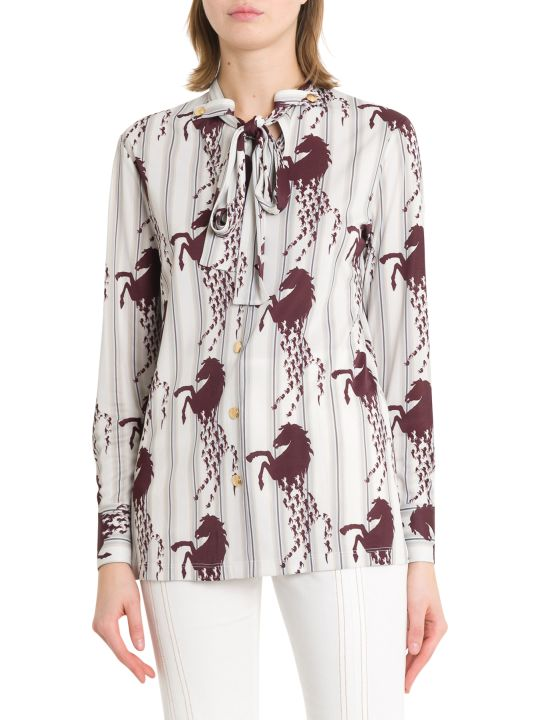 Chloé Horses And Stripes Shirt