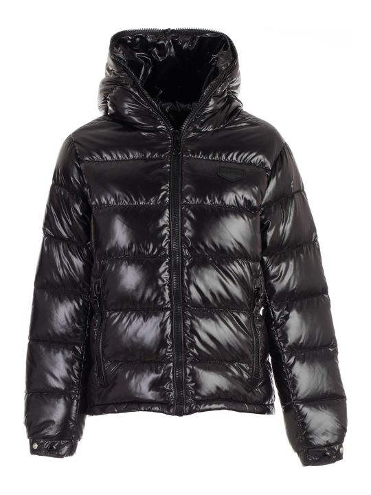 Duvetica Padded Jacket Short W/interior In Contrast