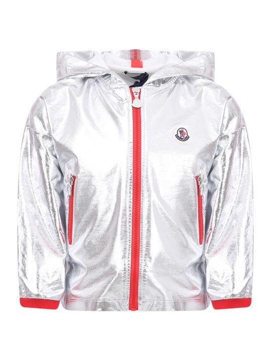Moncler Silver Hooded Girl Jacket