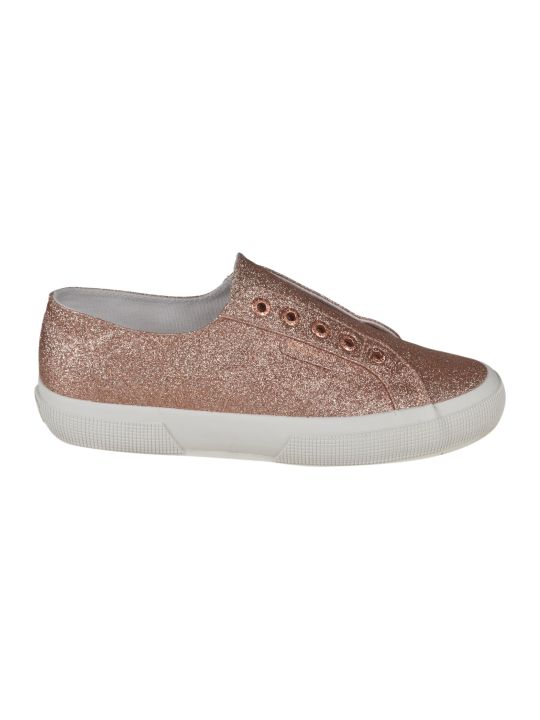 Superga Micro Glitter Slip On Sneakers