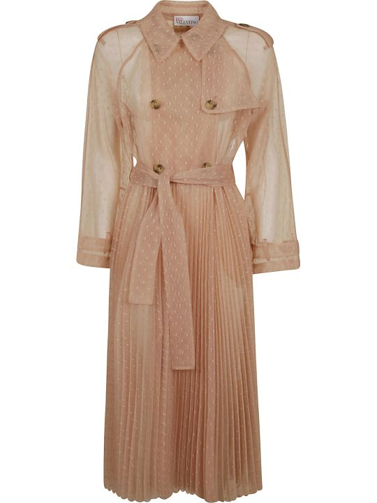RED Valentino Lace Pleated Trench