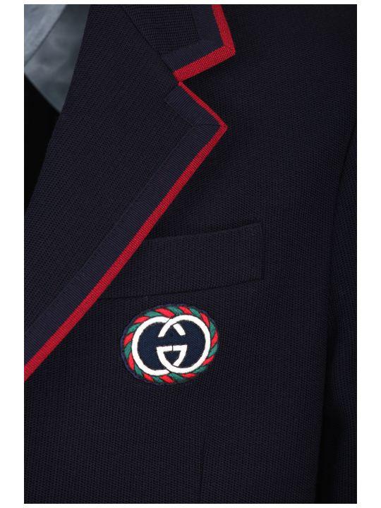 Gucci Palma Wool And Cotton Jacket