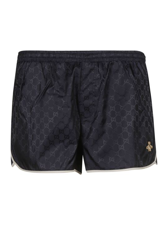 Gucci Bee Embroidery Swim Shorts