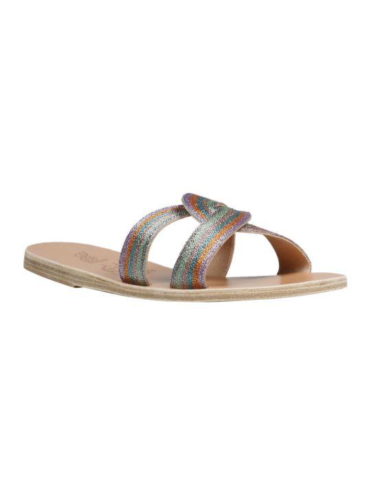 Ancient Greek Sandals Desmos Embroided Flat Sandals