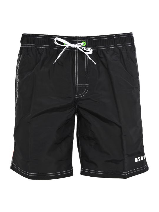 MSGM Msgm Sundeck Line Swim Shorts