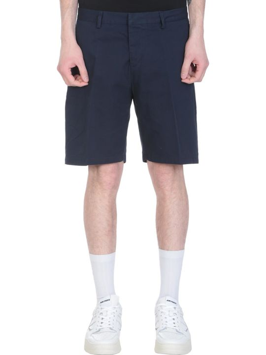 Ami Alexandre Mattiussi Blue Cotton Shorts