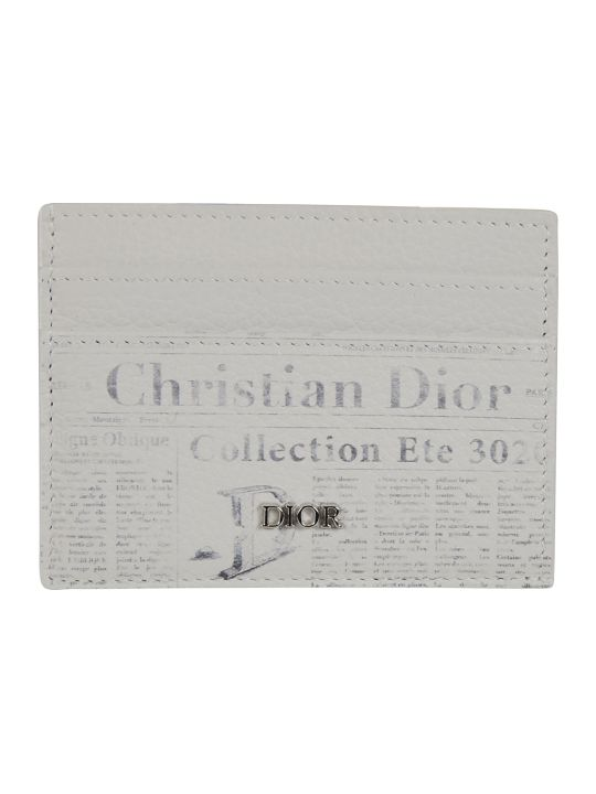 Christian Dior Newspaper Print Card Holder