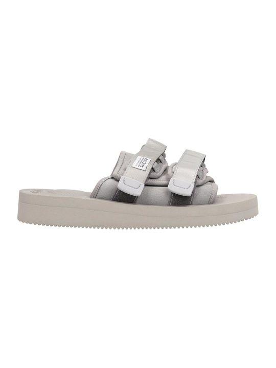 SUICOKE Nylon Grey Moto Sandals