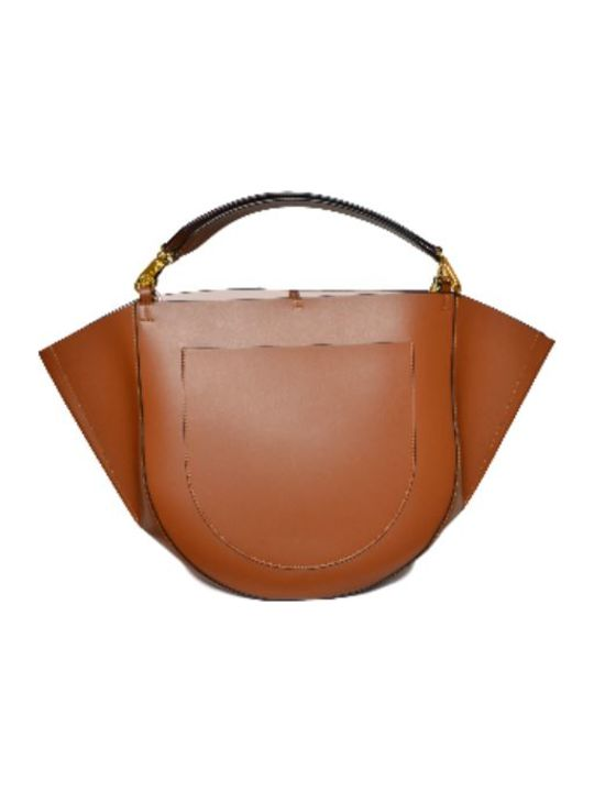 Wandler Double Handle Big Leather Mia Totedoppio Manico