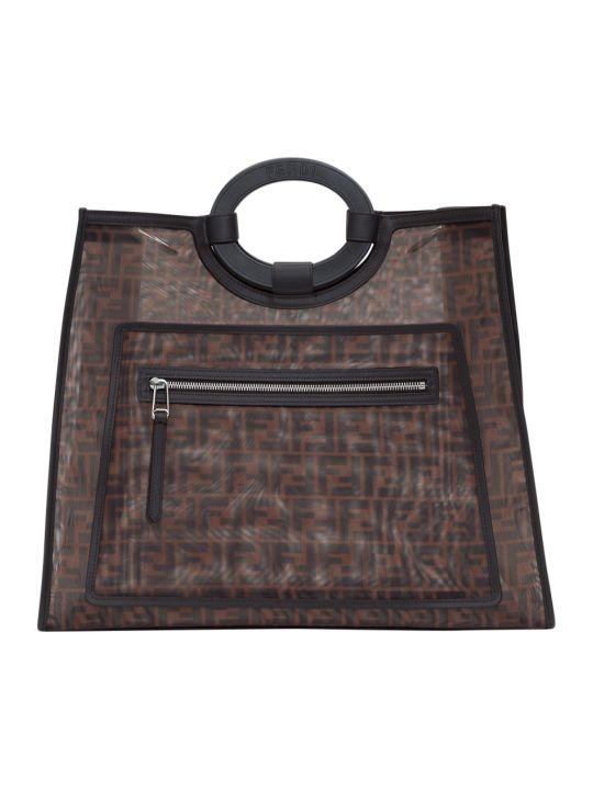 Fendi Ff Mesh Runaway Large Shopping Bag
