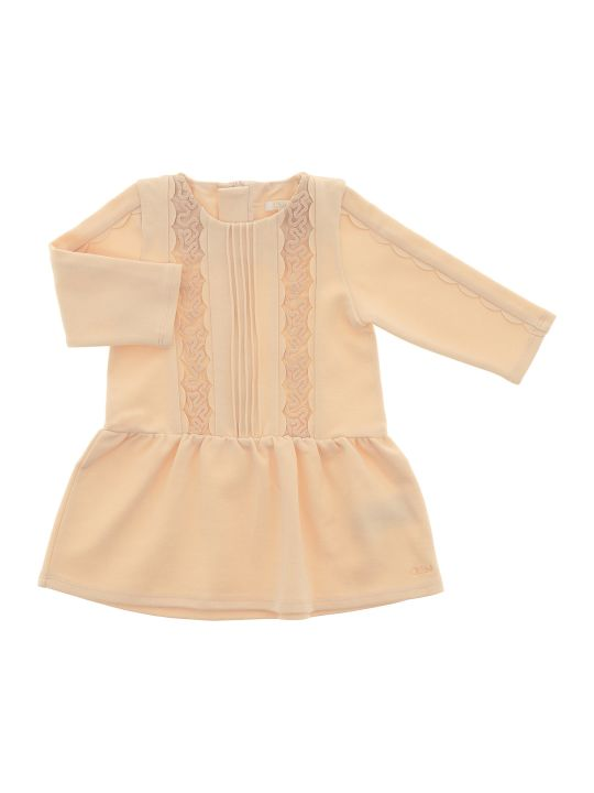 Chloé Smocking And Eylet Dress