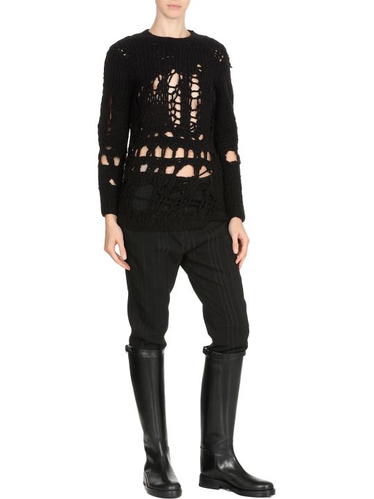 Ann Demeulemeester Openworked Patterned Sweater