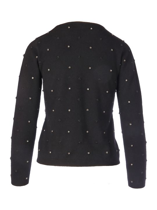 Max Mara Pianoforte Dolmen Pearls And Stone Sweater