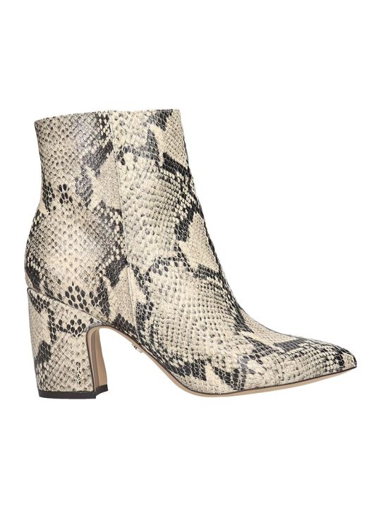 Sam Edelman Hilty High Heels Ankle Boots In Animalier Leather