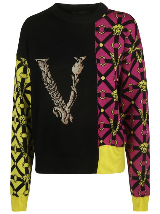 Versace Medusa Logo Print Sweater