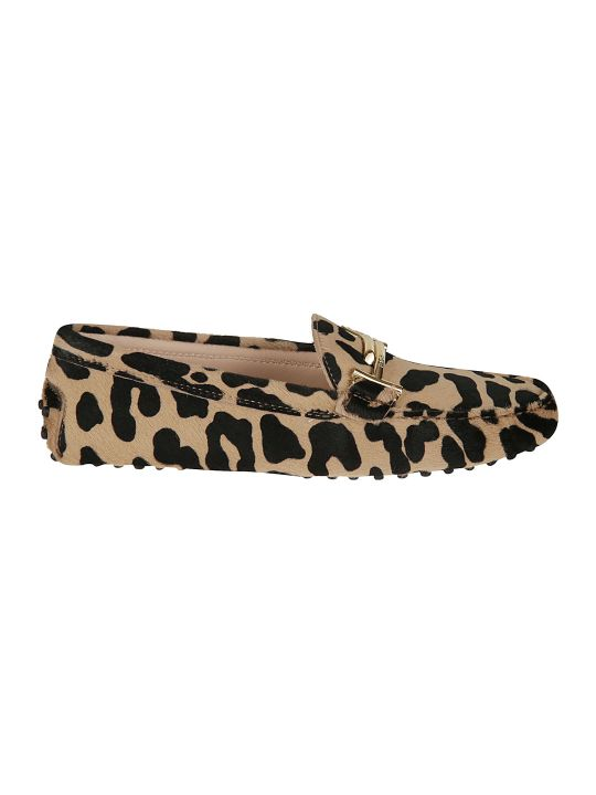 Tod's Animal Print Loafers