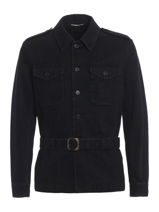 Saint Laurent Saharienne Denim Jacket