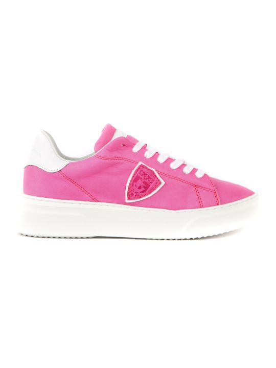 Philippe Model Temple Nubuck Leather Sneakers