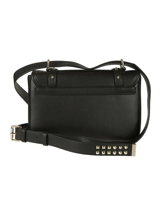 Love Moschino Studded Logo Plaque Shoulder Bag