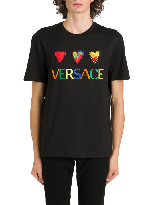 Versace Logo & Hearts Tee