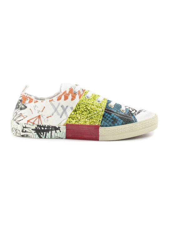 Maison Margiela Graffiti Multicolor Cotton Sneaker