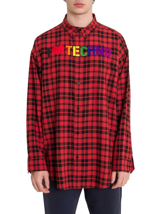 Balenciaga I Love Techno Check Shirt