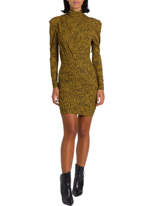 Isabel Marant Jisola Animal Printed Mindress With Draping