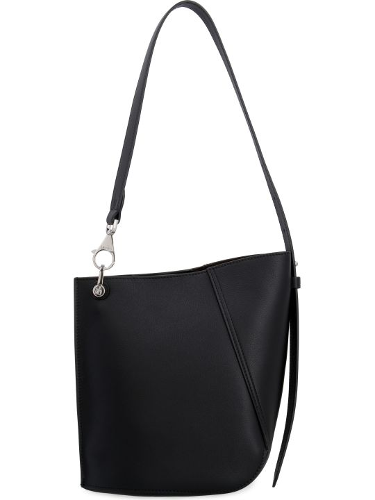 Lanvin Hook Leather Bucket Bag