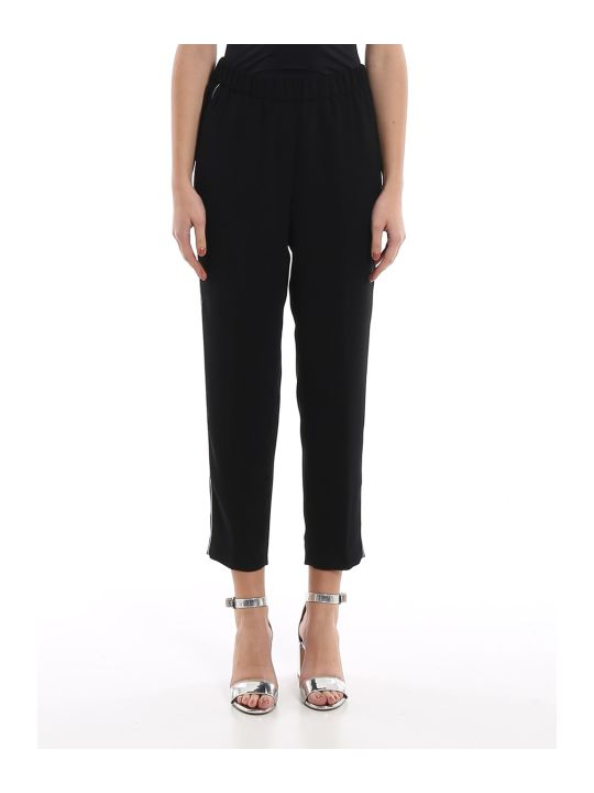 Peserico Point Light Embellished Black Pants