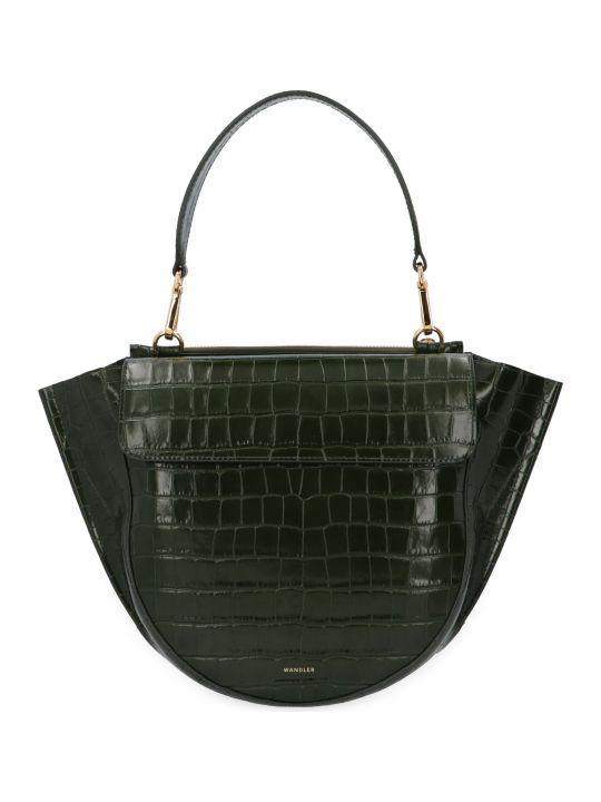Wandler Hortensia Croco Print Leather Handbag