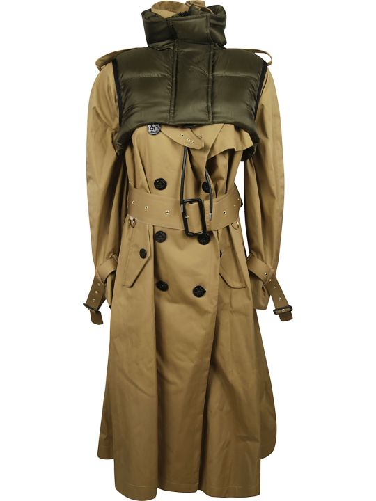 Sacai Funnel Neck Trench