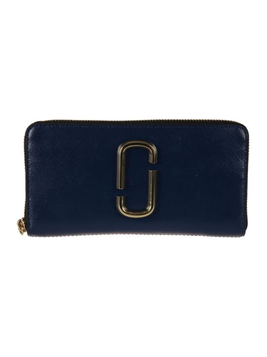 Marc Jacobs Logo Plaque Zip Around Wallet