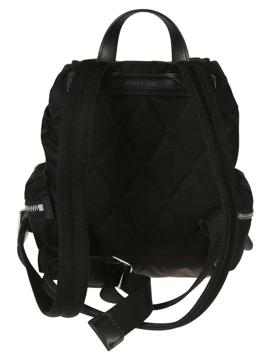 Burberry Front Zip Logo Print Backpack