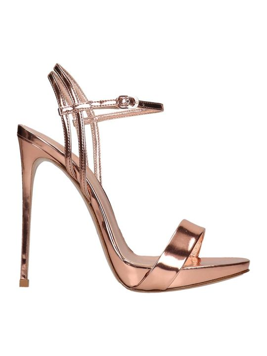 Le Silla Sandals In Rose-pink Leather