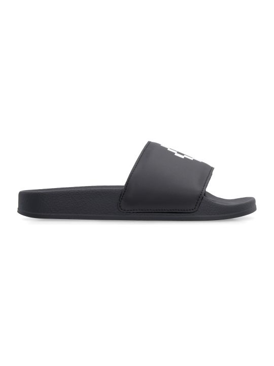 Marcelo Burlon Logo Detail Rubber Slides