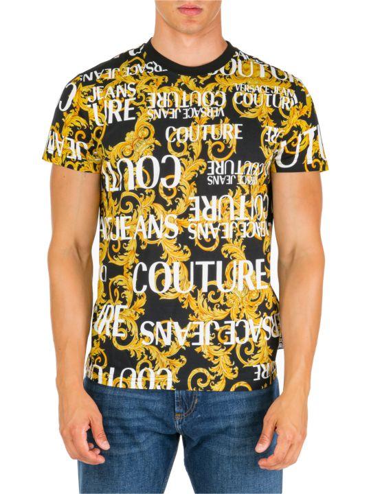 Versace Jeans Couture  Short Sleeve T-shirt Crew Neckline Jumper Logo Baroque