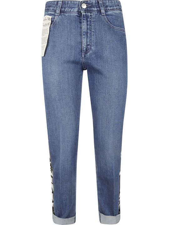 Stella McCartney Logo Stripe Boyfriend Jeans