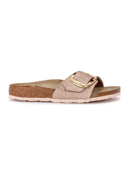 Birkenstock Madrid Big Buckle Pale Pink Laminated Leather Sandal