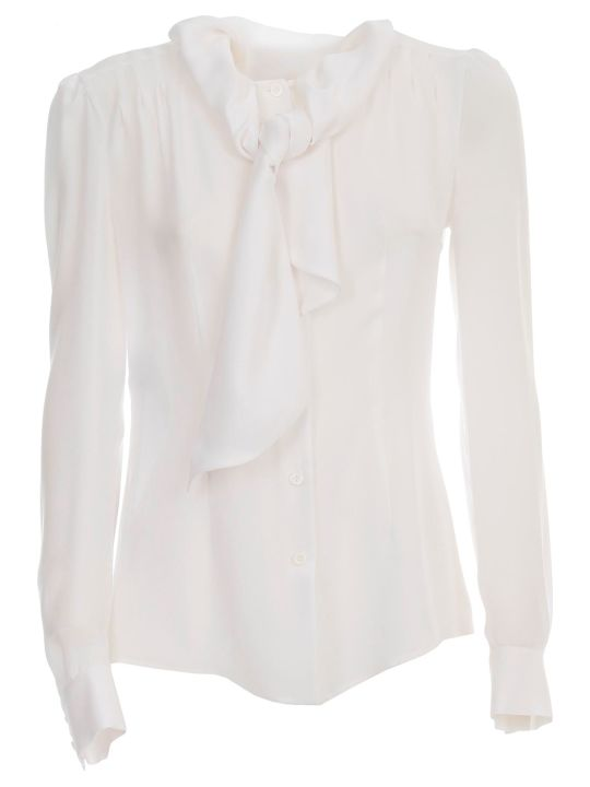 Moschino Silk Shirt L/s W/bow