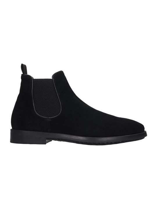 Officine Creative Ergosum Ankle Boots In Black Suede