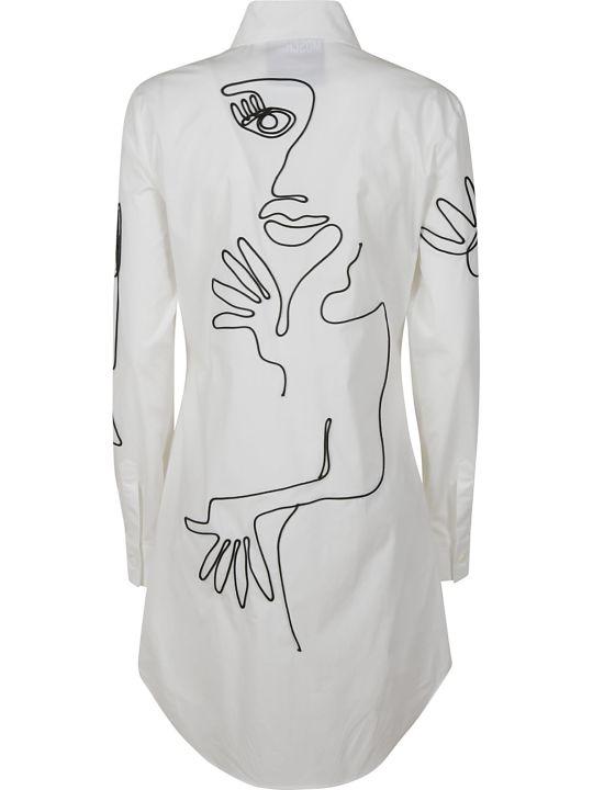 Moschino Half Face Print Long Shirt