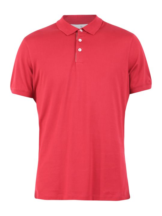 Brunello Cucinelli Red Polo