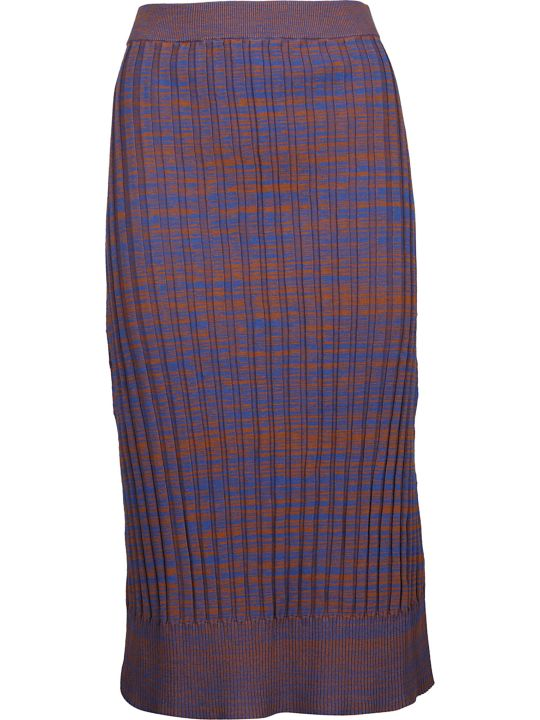 Jil Sander Navy Ribbed Pencil Skirt