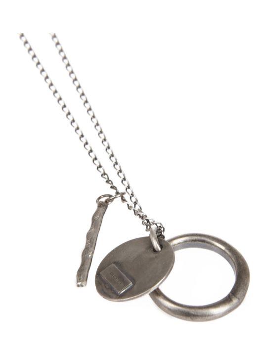 Goti Silver Multipendant Necklace