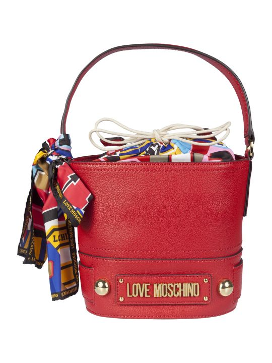 Love Moschino Scarf Detail Bucket Bag