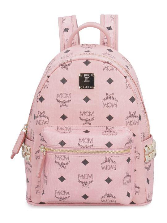 MCM Stark Visetos Mini-backpack With Studs